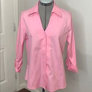 Pink Coldwater creek button up shirt